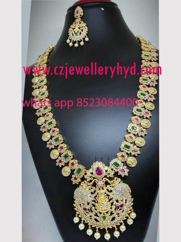 cz stone necklace sets with price