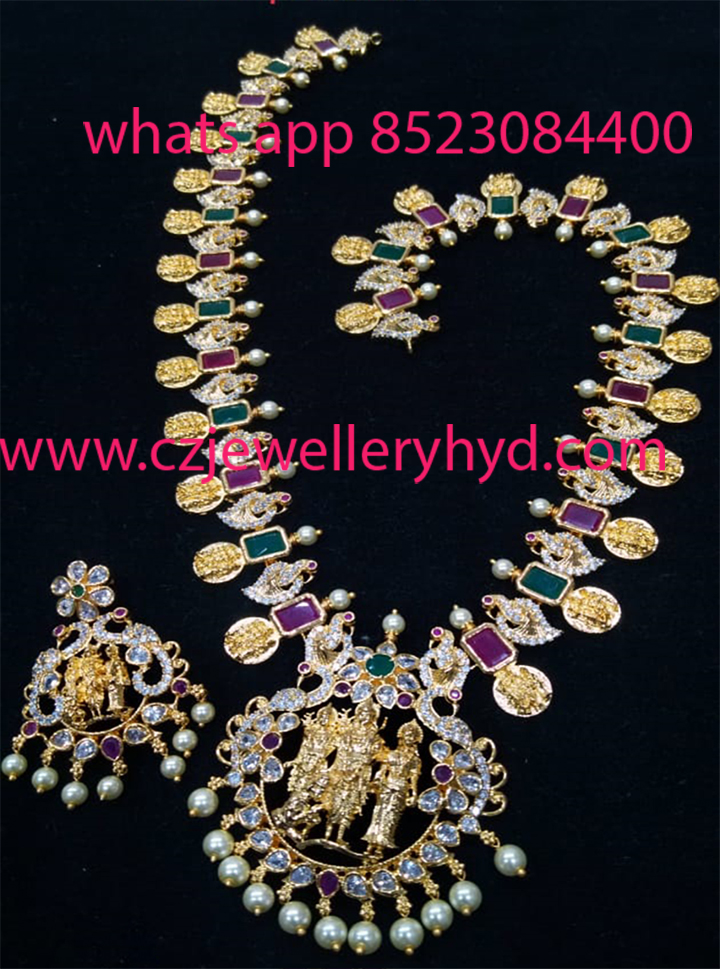 CZ Long Necklace set
