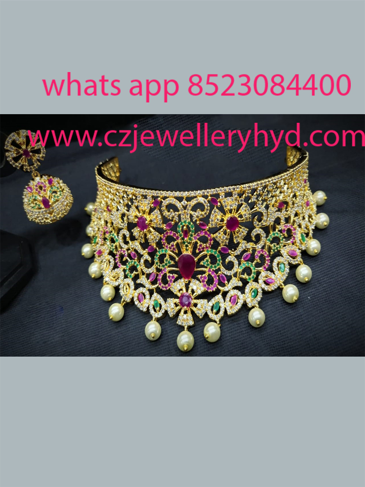 cz chokers set with beautiful design