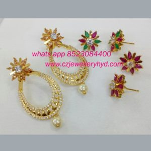 CZ Changeable Fashion Earrings code: 0519189N
