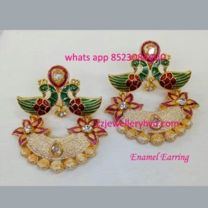 Exclusive Enamel Earring code: 0619237N