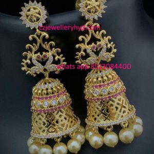 Traditional peacock Jhumka
