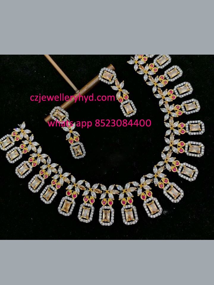Ad premium quality designer necklace set
