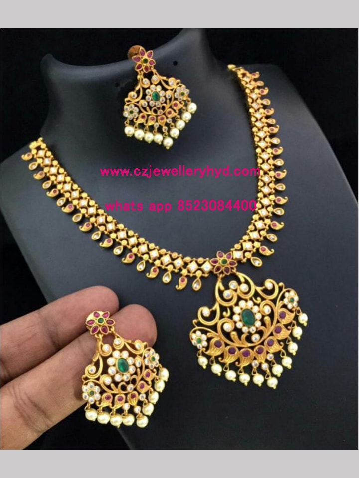 matte finish jewellery online shopping set code: 0419249N
