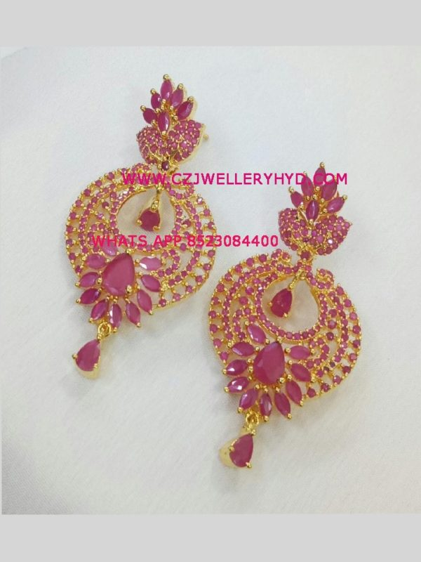 ruby-earrings-party-wear-buy-online-set-code:-0619262n