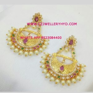 one gram gold party wear earrings wholesale buy now code: 0619267N