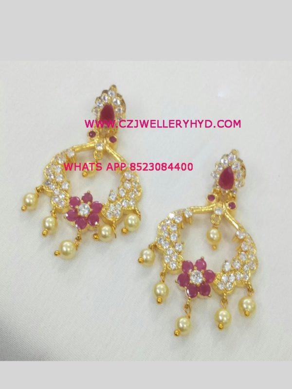 one gram gold party wear earrings wholesale code: 0619269N