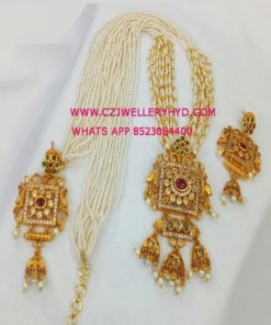 pearl necklace designs with price set:-0619282N