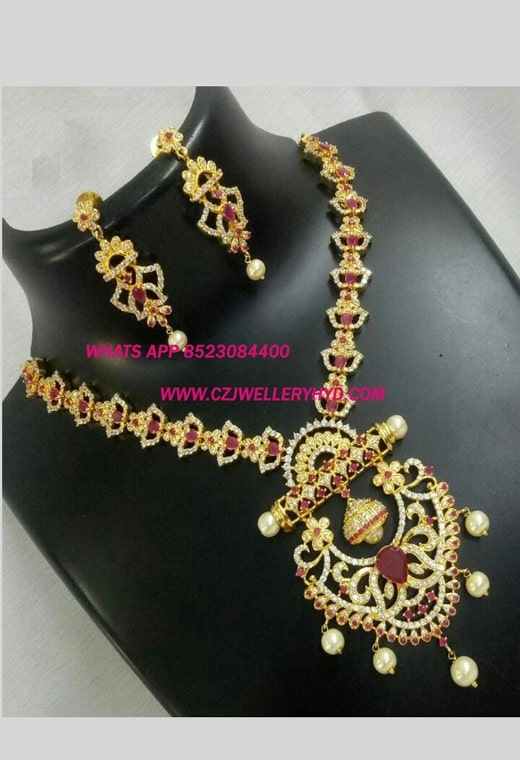 CZ jewellery Necklace set buy online