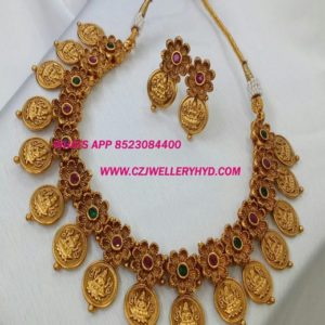 Lakshmi Kasu Necklace Set for Women