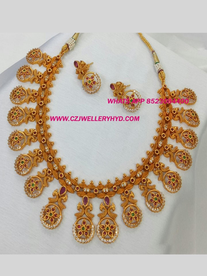 Lakshmi Kasu Necklace Set for Womens