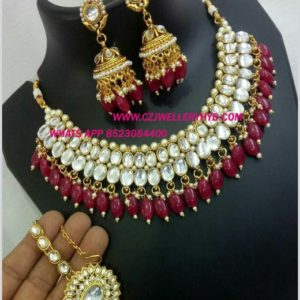 kundan set with price buy online-0619297N