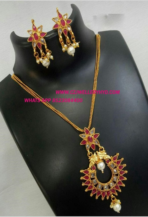 pendant set artificial jewellery-0619299N