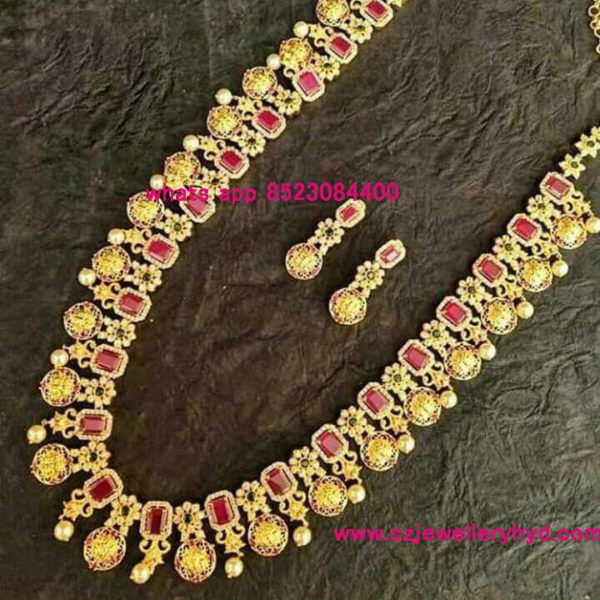 CZ Long Necklace 111901