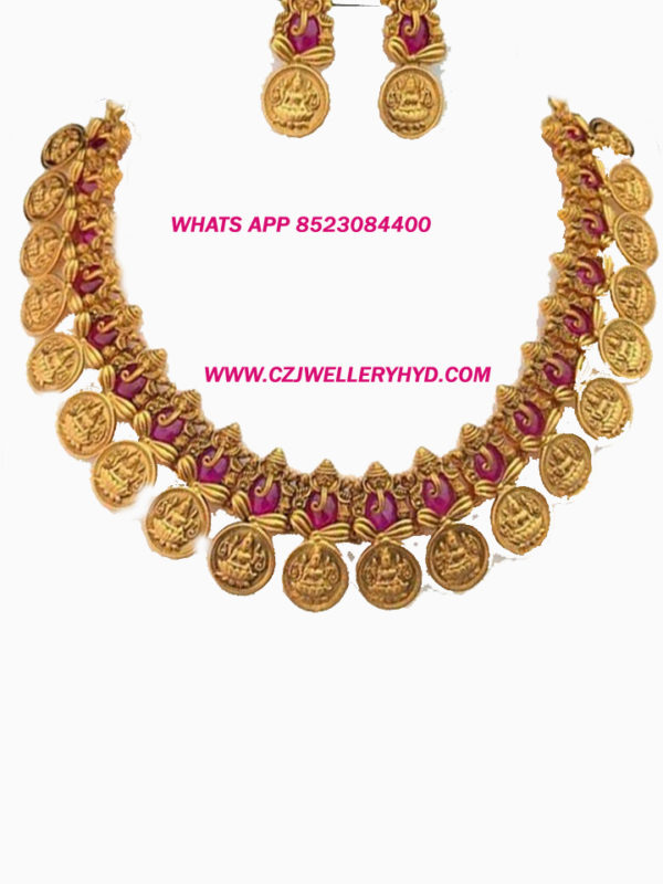 Lakshmi Ganapathi Premium Matt Necklace set-02052001