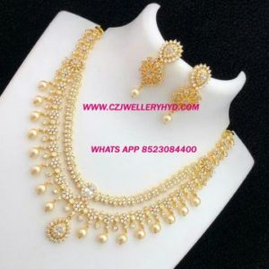 Real kempu necklace set 111909