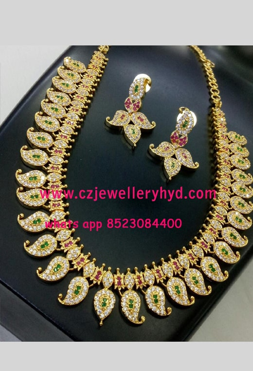 CZ Mango Necklace Set 13N282