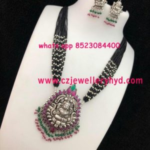 black metal jewellery buy online 18N285