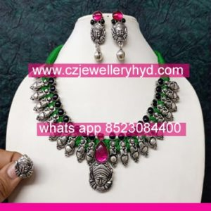 01ND175 Premium Quality Oxidize Necklace