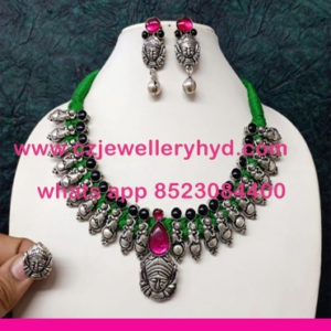 041ND175 Premium Quality Oxidize Necklace
