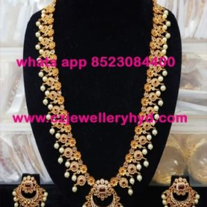 21ND295 Premium Quality Matte Finish Long Necklace Set