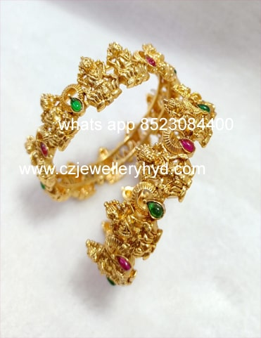 28ND64 Exclusive Quality Matte Ganesh Bangles