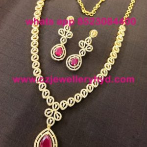 31NDV170 Premium Quality Short Necklace Set