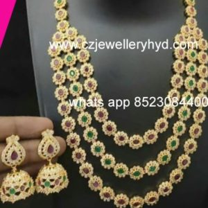53NR625 Premium Quality 3 Step Set Necklace Set