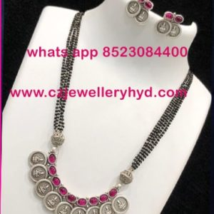 60NDV64 Black Beats Mangalsutras with Black Metal buy online