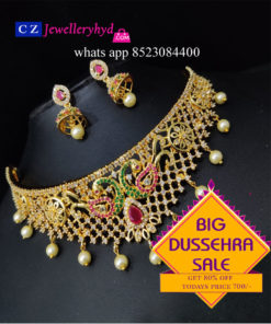 Big Dusheera Offer Get 80% off Buy the Beautiful Choker set 700- Hurry Up Whats app or Call on 85230 84400